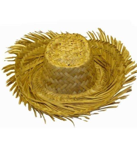 Disfraz Naúfrago fiesta playa hawaiana paja adulto grande Sombrero
