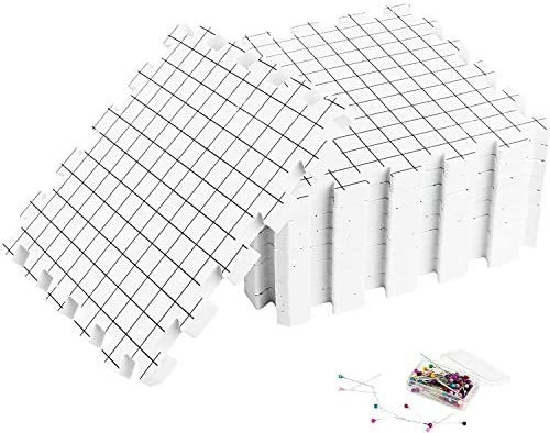 Umien Blocking Mats for Knitting 9 Pack Extra Thick Blocking Boards with Grids Suitable for product image