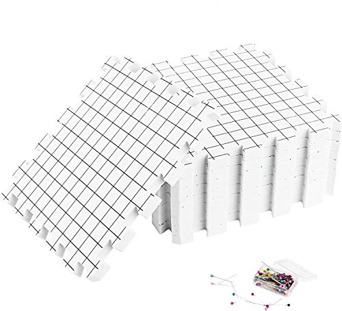 Umien Blocking Mats for Knitting [9-Pack] - Extra Thick Blocking Boards with Grids - Suitable for Needlepoint Or Crochet - Included Storage Bag & 100 T-Pins