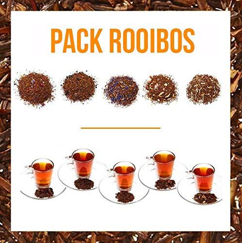 ✔ BENEFICIOS: Esta selección de tés Rooibos te brindarán propiedades Antioxidantes y Diuréticas, te ayudarán a reponer fuerzas y sobretodo, a relajarte, puesto que no contienen teína. ✔ INGREDIENTES: Rooibos, brotes de malva, frambuesas, pasas liofil...