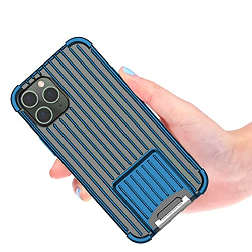 NZAUA Custodia Protettiva per telefoni cellulari, Adatta per iPhone 12 PRO Max, [Bracket a Due Vie] Custodia per Cellulare a Prova di Moda Ultra-Sottile e Morbida iPhone12Pro
