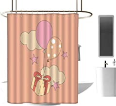 hengshu Cool Shower Curtain Rustic for Bathroom Durable Waterproof Bath Curtain W94 x L72 Inch