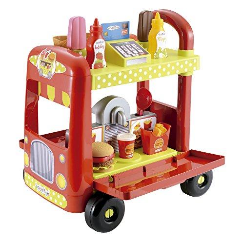 De la linea 100% chef Carrito con forma de camión que se abre convirtiéndose en una graciosa heladería Heladería por un lado y en hamburguesería por el otro