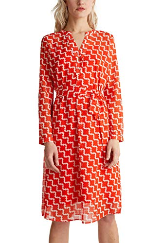 ESPRIT Collection Damen 040EO1E313 Kleid, 828/RED ORANGE 4, 38