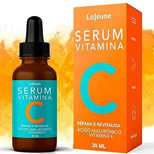 Serum Vitamina C + Ácido Hialurônico + Vitamina E + Ureia - Sérum Facial - 95% Ingredientes Naturais - Clareia, Revitaliza, Restablece, Hidrata e Tonifica a Pele – Ideal para todos os tipos de pele– 30 ml