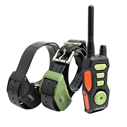 IPETS PET618 2700ft Remote Dog Training Collar 100% Waterproof & Rechargeable Dog Bark Collar with Beep Vibrating Electric Collar for Large Dogs