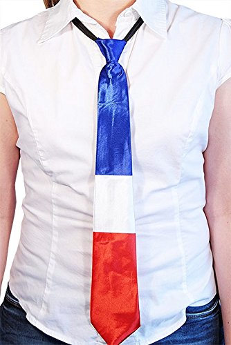 Cravate France Francais - Deguisement - Fete Nationale - 45 cm - 63689