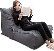 كرسي أريكة أريكة من الإسفنج المتكيف للاستخدام في الأماكن المغلقة والخارجية من iOCHOW مع قماش أكسفورد مقاوم للأوساخ وجيب جا...