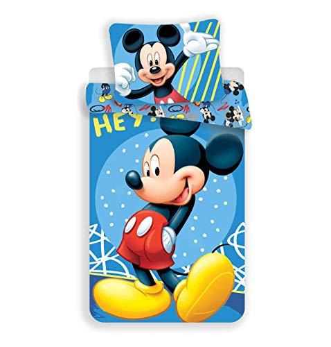 Disney Mickey - Juego de funda nórdica de algodón