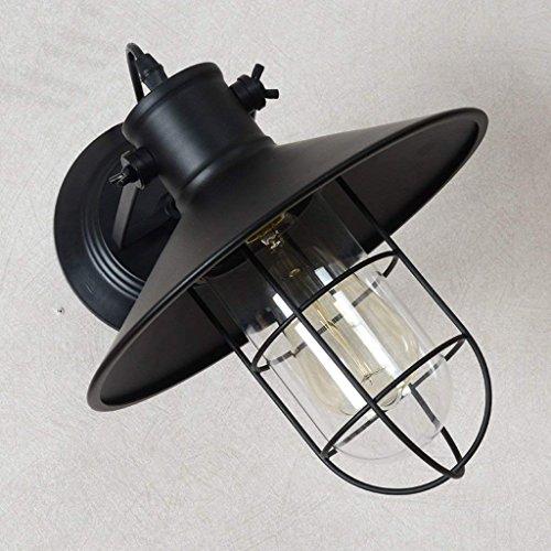 DSJ industriële retro design wandlamp gang trappen creatieve persoonlijkheid bedlampje minimalistische American Iron Birdcage wand,zwart