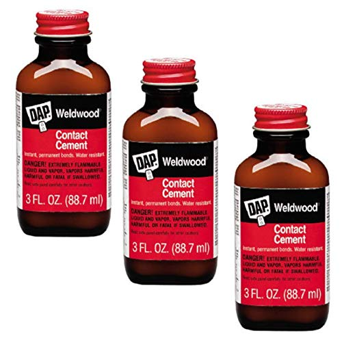DAP 00107 Weldwood Original Contact Cement,3 oz - 3 Pack