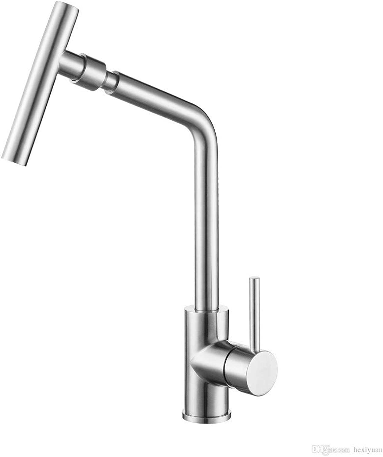 Decorry 304 Stainless Steel Kitchen Faucet Universal Swivel Sink Faucet