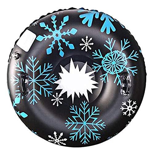 Aufblasbarer Schneeschlitten, Schneeschlauch, Aufblasbare 47-Zoll-Schlittenboje Für Kinder Und Erwachsene, Aufblasbare Hochleistungsrutsche Mit Griffen, Kratzfest, Ideal Für Die Wintererholung Im Frei