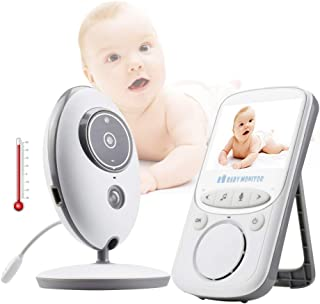 Baby Monitor Audio and Video 8 Languages Night Vision 2.4-inch Color LCD Display Digital Signal Transmission Stable Withou...