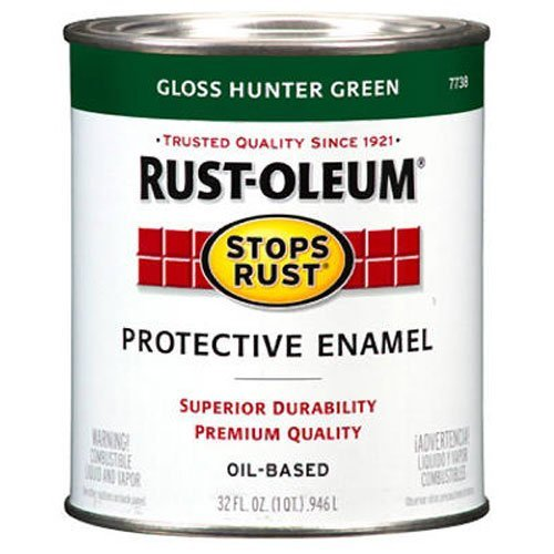 Rust-Oleum 7733502 Stops Rust Brush On Paint, Quart,...