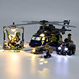 POXL Lumières Kit LED Éclairage Kit pour Lego Jurassic World La Poursuite en hélicoptère de 75928 LED Lumières -Lego Modèle Non Incluse