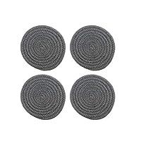 XXT コースターホームコースターキッチン断熱マットアンチやけどポットマットホームクリエイティブアンチスキッドコースター(4個) (Color : Dark gray, Size : 30*30cm)