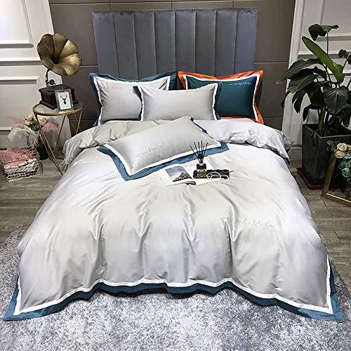 Conjunto de tapa de edredones Conjunto de ropa de cama Conjunto de camas de cubierta del edredón azul marino Conjunto de ropa de cama de 4 piezas 100% egipcio algodón tamaño king size edredones con cu