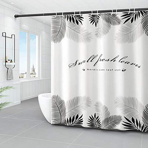 RPLW Dekorative Duschvorhang Für Badezimmer,Wasserdicht Hotel Luxus Duschvorhang,Badewanne Datenschutz-Display,Beschwerter Saum Dauerhaft Duschvorhang-K W:180xh:180cm