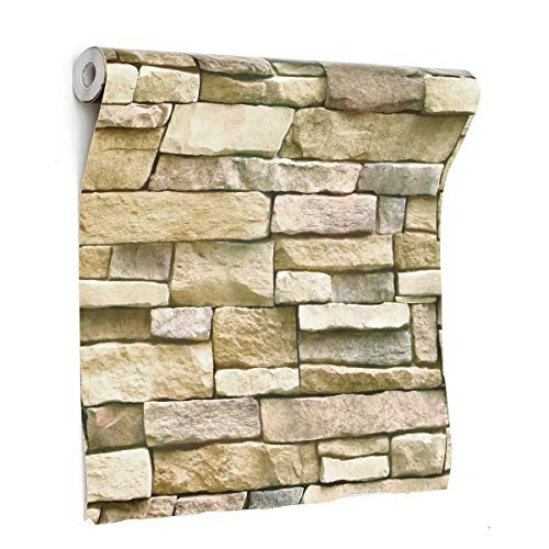 DIY Room Decor 3D Wall Paper Brick Stone Pattern Sticker Rolls Self-Adhesive Backdrop Home Accessories