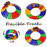 Car Track mit 2 Electric Auto Eisenbahn Autorennbahnen Montage Spielzeug Rennbahn Spiel Set für Kinder,505 CM Länge - 2