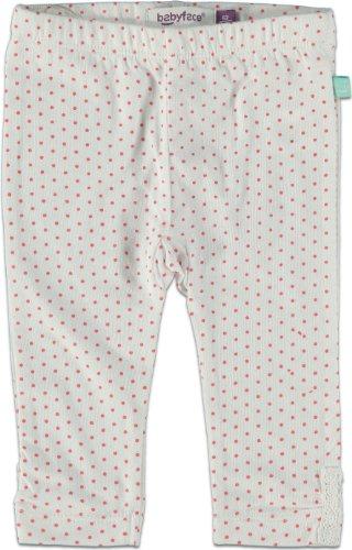 Babyface Bébé Fille Leggings Dot, Blanc, Taille 50-56