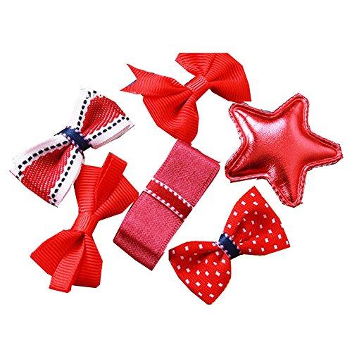 6pcs différents clips-rouge de cheveux en forme de bébé coloré