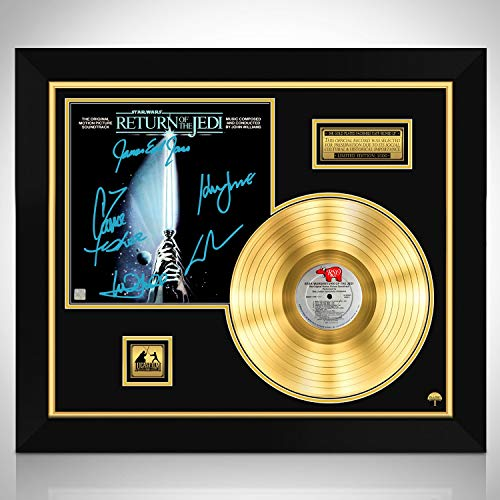 Star Wars Return of The Jedi Soundtrack Limited Signature Edition Gold LP Custom Frame