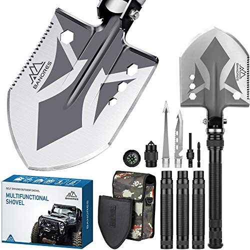 BANORES' Compact Folding Shovel with Lengthened Handle and Larger