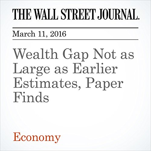 Wealth Gap Not as Large as Earlier Estimates, Paper Finds cover art