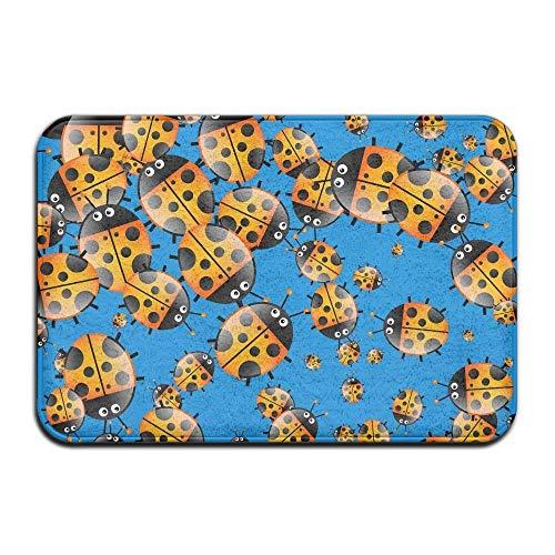 Novelcustom Colorful Ladybird Indoor Outdoor Doormats Super Absorbs Mud Dirt Easy Clean Cute Cat Floor Rug Door Mats 15.7\
