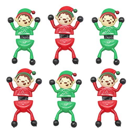 KAMLIKE 6PCS Noël d'escalade Hommes mur Crawlers Avec Sticky Feet pour la fête de Noël Favors Sac Prix Bas remplisseurs déstresse Toy