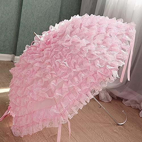Bridal Moda Regalo Paraguas Boda Mujer Encaje Parasol Paraguas diseño ombrelle Mango Largo sombrillo jardín (Color : Style 2)