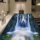Benutzerdefinierte Boden Wandbild Tapete 3D Hd Tal Wasserfall Badezimmer Wohnzimmer Boden Aufkleber Wasserdicht Selbstklebende Fototapete 250X175Cm