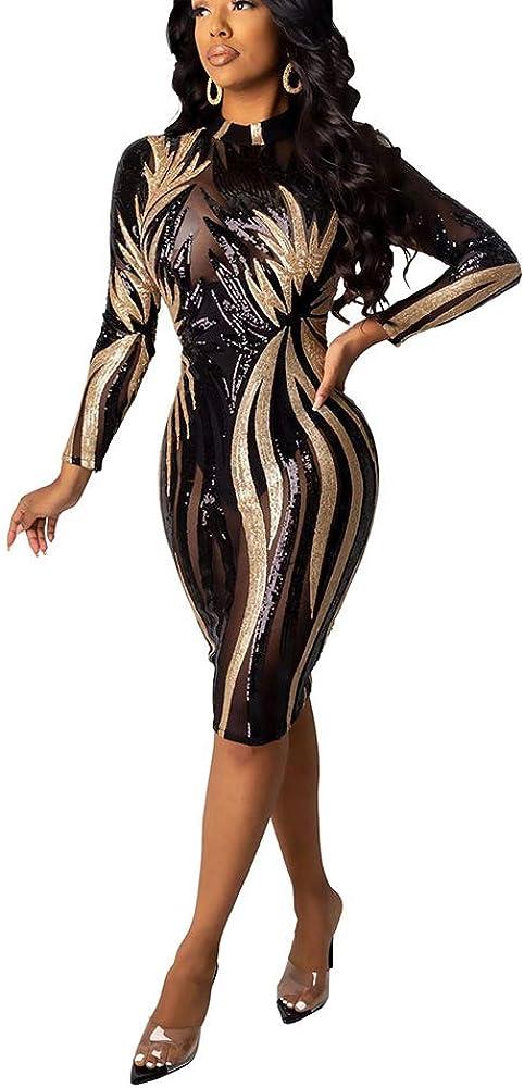 OLUOLIN Women's Sexy Sequins Kansas City Mall Sheer See Rhinestone S NEW before selling ☆ Mesh Through