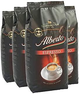 Alberto Espresso Coffee Beans 100% Arabica 4 X 1 Kg