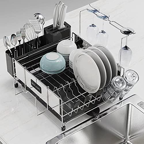 SINOART Dish Drying Rack , Stainless Steel Dish...