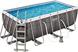 Bestway Piscina Desmontable Tubular Power Steel Ratán 412x201x122 cm con Depuradora...