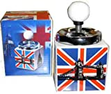 Posacenere rotante in ceramica con bandiera UK con scatola...