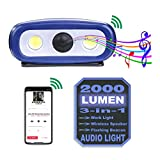 Rechargeable 2000 Lumen Audio LED Work Light, Perfect Combination of Mechanical...