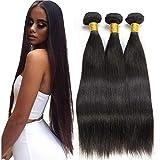 Straight Human Hair Bundles 14 16 18 inches 3 Bundles Unprocessed Virgin Brazilian Hair Bundles Weave Hair Human Bundles for Black Woman