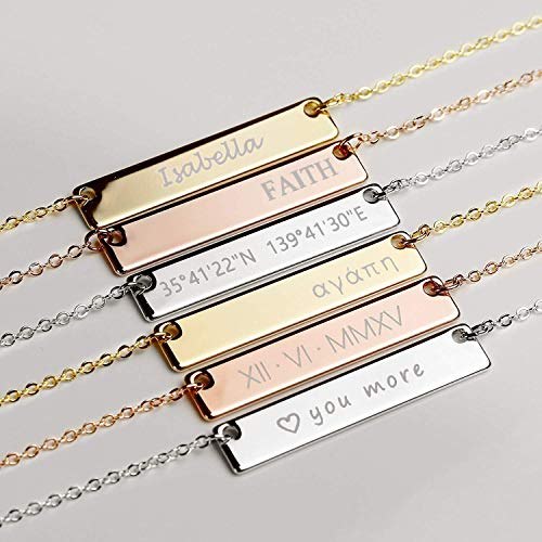 Custom Engraved Necklace for Mom Friendship Gifts for Her...