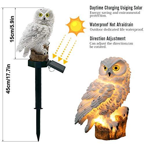 JoyFan Solarleuchte Eule Form LED Gartenleuchten Birne Nacht-Lampe Wasserdicht Outdoor Hofbeleuchtung Dekoration