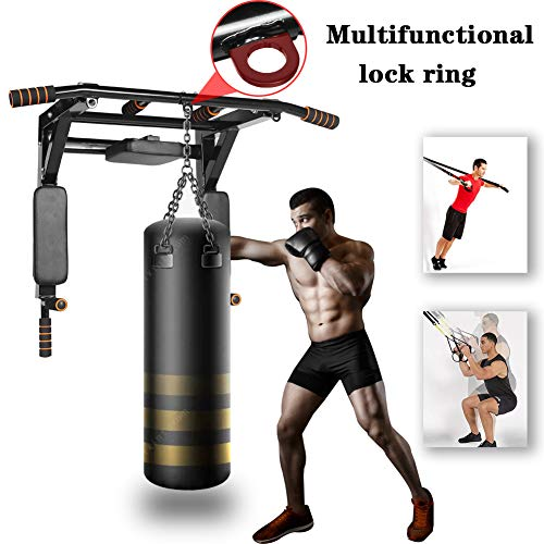 Product Image 2: Newan Pull Up Bar Wall Mounted Chin Up Bar Multi-Grip Full Body Strength Training Workout Dip Bar,Power Tower Set Support to 440Lbs