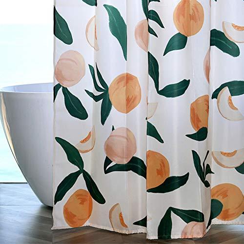 CoraStudio Duschvorhang Pfirsich Wasserdicht Anti-Schimmel Polyester Fabrik Wohnaccessoires mit Vorhängehaken 180x200cm