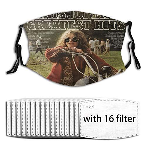 Euochengqus Janis Joplin Anti-Staub Nebelmasken K?nnen Den Schutz Reinigen Und Wiederverwenden with Filter with 16 Filter
