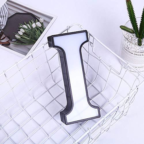 Cozyhoma Luces de plástico con letras del alfabeto de la A a la Z para carnaval, decoración de bricolaje para bodas, fiestas, vacaciones, regalo, decoración de mesa, funciona con pilas