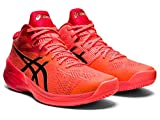 ASICS Men's Sky Elite FF MT Tokyo Volleyball Shoes, 8M, Sunrise RED/Eclipse Black