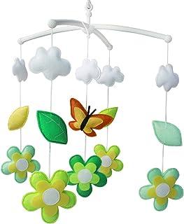 Papillon Jouet de décoration de lit bébé Mobile musical musical pour berceau fait main en tissu non tissé