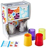 Melissa & Doug Wooden Thirst Quencher Drink Dispenser with Cups, Juice Inserts, Ice Cubes (10 pcs) Dispensador para Saciar La SED, Multicolor (19300)